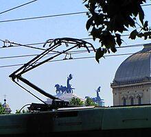 Crossing Ponte Garibaldi ~ Rome by Hans Bax