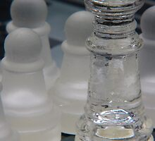 Chess Queen and Pawns by Colin Bentham