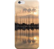 Pale Gold Sunrise With Yachts  iPhone Case/Skin
