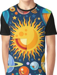Solar System Infographics Graphic T-Shirt