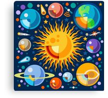Solar System Infographics Canvas Print