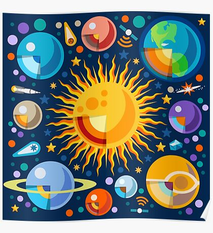Solar System Infographics Poster