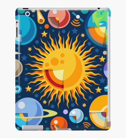 Solar System Infographics iPad Case/Skin