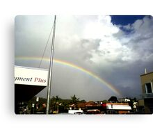 rainbow over suburbia  Canvas Print