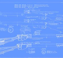 303  Lee Enfield Rifle Blueprint (light blue) by NemesisGear