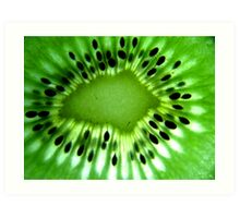 Macro photo of kiwi fruit Art Print