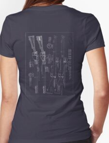 303  Lee Enfield Rifle Blueprint  Womens Fitted T-Shirt