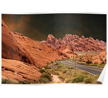 ☀DRIVING THROUGH THE VALLEY OF FIRE STATE PARK NEAR LAS VEGAS NEVADA ☀ Poster