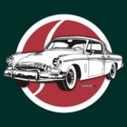 Studebaker President emblem and illustration by Robin Lund
