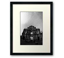 Facade B&W Framed Print