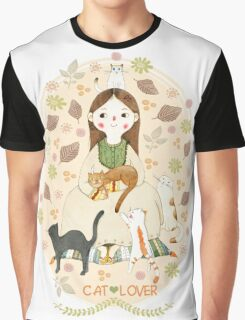 Cat Lover Graphic T-Shirt