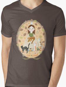 Cat Lover Mens V-Neck T-Shirt