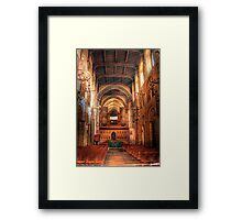 Rochester Cathedral interior  Framed Print
