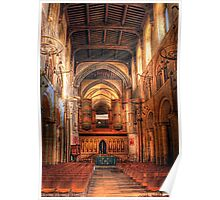 Rochester Cathedral interior  Poster