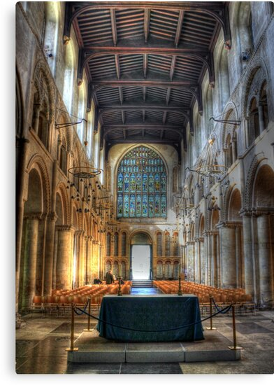 Rochester Cathedral interior   (2) by larry flewers