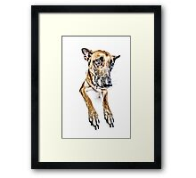 Do you looooove me? Framed Print