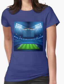 Football Stadium Background Womens Fitted T-Shirt
