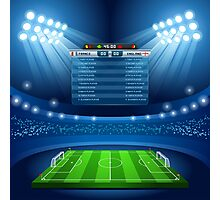 Football Stadium Background Photographic Print