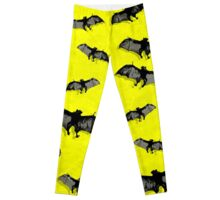 Bat Flying Fox remixed Y Leggings