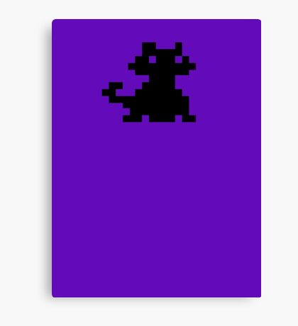 Alley Cat Pixel Style- Retro DOS game fan items Canvas Print