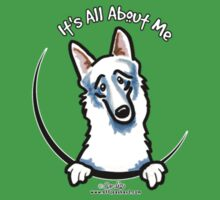 Pocket White German Shepherd :: Its All About Me by offleashart
