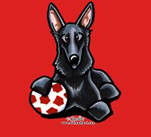 Black German Shepherd Soccer Fan Womens Fitted T-Shirt