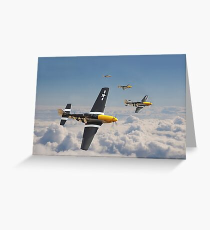 P51 Mustang - Mission Complete Greeting Card