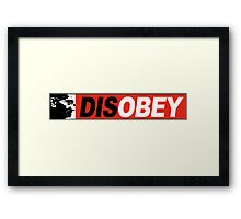 DISOBEY 2 Poster Framed Print
