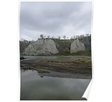 Scarborough Bluffs On A Rainy Day Poster