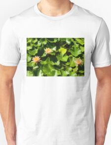 Light, Shadow and Color - Waterlily Pad Impression Unisex T-Shirt