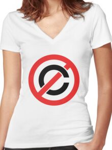 Copyfight Women's Fitted V-Neck T-Shirt