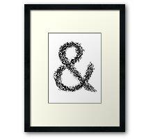 Ampersand Framed Print