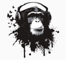 Monkey Business - Black One Piece - Short Sleeve