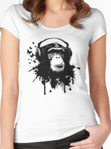 Monkey Business - Black Women's Fitted Scoop T-Shirt