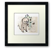 Monster Surprise Framed Print