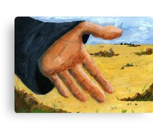 Hand in field Canvas Print