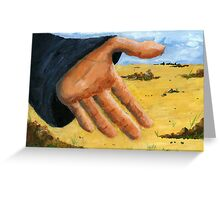 Hand in field Greeting Card