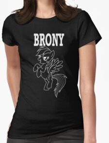 BRONY - RD (Black) Womens Fitted T-Shirt