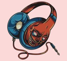 Funny Evil Zombie Headphones - comic cartoon One Piece - Short Sleeve