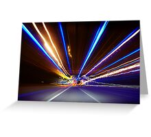 Freeway Light Streaks Greeting Card