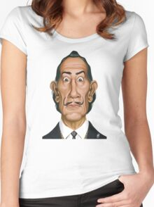Celebrity Sunday - Salvador Dali Women's Fitted Scoop T-Shirt