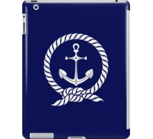 Anchor in a Rope Circle VRS2 iPad Case/Skin
