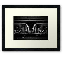 Metro Trains Framed Print