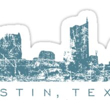 Austin, Texas Skyline Vintage Blue Sticker