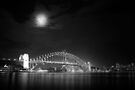 Sydney Harbour at Night B&W by Andrejs Jaudzems