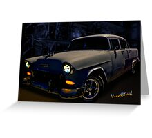 Bad 55 Chevy Rat Rod Greeting Card