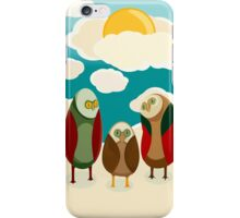 Owls in the sky iPhone Case/Skin