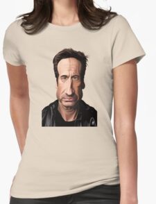 Celebrity Sunday - David Duchovny Womens Fitted T-Shirt