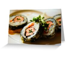 Dragon Eye Sushi Greeting Card