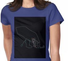 Neon Sweet Kitty Womens Fitted T-Shirt